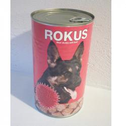Rokus κονσέρβα σκύλου μοσχάρι 1250gr