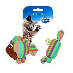 Παιχνίδι γάτας ψάρι & καραμέλα 8x8x3cm