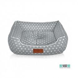 Κρεβάτι φωλιά Cozy γκρι με αστεράκια XS 48x36cm