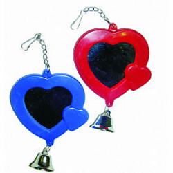 Καθρέφτης καρδιά για παπαγαλάκια