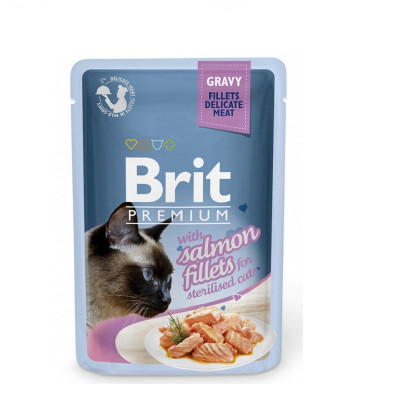 Brit Premium Cat Gravy Salmon Sterilized 85gr